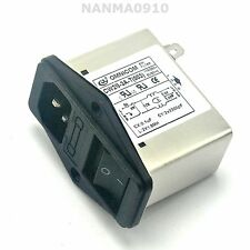 3A EMI IEC Type AC Power Supply Filter Socket w Switch Fuse for Amplifier AMP