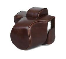 Kameratasche Etui für Olympus E-M10 Mark II Kunstleder Tasche coffee CC1376b
