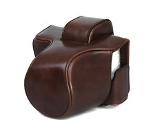 Camera Case Case for Olympus E-M10 Mark II Faux Leather Bag Coffee CC1376b
