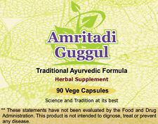 Amritadi Guggulu (Water Retention & Uric Acid) 90 Vege Capsules, 1 gm each