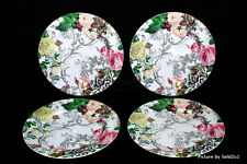 4 Savinio Designs Rose Toile Dinner Plates