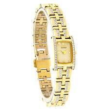 Citizen Eco-Drive Ladies Silhouette Crystal Gold Tone Dress Watch EG2352-52P