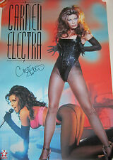 Carmen Electra Signed Playboy Star Power Poster