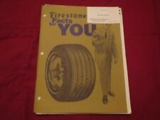 1971 1972 FIRESTONE TIRES FIRESTONE FACTS FOR YOU SALES BROCHURE PACKET RARE