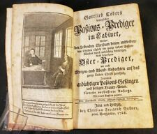 "1768 PASSION PREACHING IN THE CABINET by Gottlieb Cober Stamp ""ANTICARIAT SIBIU"""
