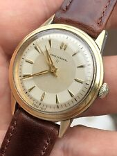 Vintage Ernest Borel Gold Capped Steel Teo Tone Dial Mens Watch 31mm Swiss