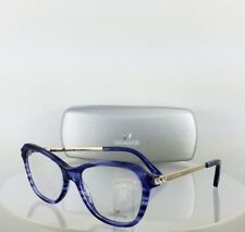 9ed2e0db1c44 New Authentic Swarovski Eyeglasses Florrie SW 5161 090 Blue Silver Frame