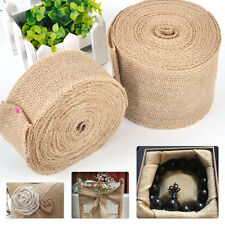 10M Vintage Jute Burlap Hessian Table Runner Ribbon Wedding Party Rustic Decor