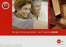 Prospekt Bürstner Trecento Caravan 2008 Broschüre Wohnwagen brochure Burstner
