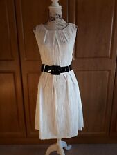 Ivory Skater Style Dress with Patent Belt by Autograph @ M&S size14 BNWT rrp £69