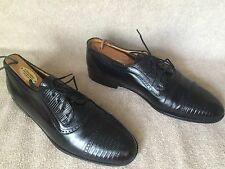 Very Gently Worn Miguel Angel 9.5 N Genuine Lizard Black Oxford Shoes Free S&H