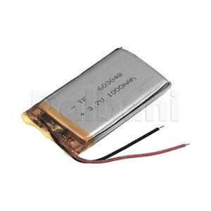 603048, Internal Lithium Polymer Battery 3.7V 1000mAh 60x30x4.8mm