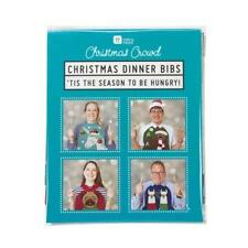 Christmas Jumper Bibs x 8 - Xmas Dinner Table Novelty Secret Santa Gift Fun Joke