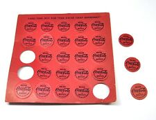 Vintage Drink Coca Cola in Bottles Coke Bingo Markierer Card Markers USA 1960'er
