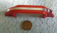 Art Deco Red Plastic Pulls Handle Kitchen Drawer Vintage NOS Oxidation Marks