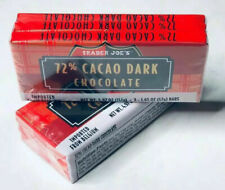6x TRADER JOES 72% CACAO 🔥Belgium Dark Chocolate Bars🔥!🔥