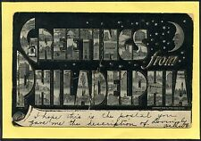 Philadelphia -- Large Letters -- Greetings -- 1905 -- Postcard - Pennsylvania