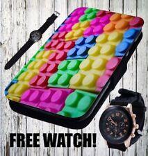Étuis, housses et coques multicolores en cuir pour téléphone mobile et assistant personnel (PDA)