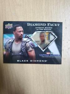 2021 Upper D Marvel Black Diamond Facet Film Cel Anthony Mackie FALCON DF-1