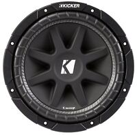Kicker Comp 10 Inches 300 Watt SVC 4 Ohm 86.2 dB Car Audio Subwoofer 43C104