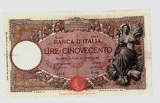 RARE  LIRE  REGNO 500  Lire  CAPRANESI   1932