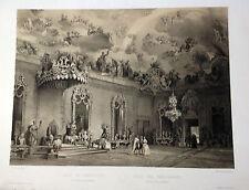 Madrid.Palacio Real, Litografía original. Villaamil, 1842-1850.