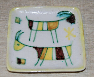 Vintage Guido Gambone Italian Pottery Mid Century Tray MCM