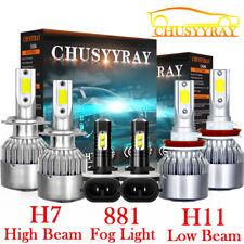 For Hyundai Elantra 2013-2018 Kit H7 H11 LED Headlight 881 Fog Light Combo Bulbs