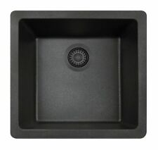 "NEW OPEN BOX MR Direct 18"" L x 17"" W Dual Mount Kitchen Sink Black $451"