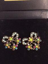 New In Box Michal Negrin Earings Women's floral Multi Color earings Screw Back