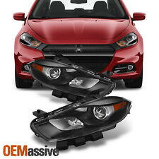 Fit 13-15 Dart Hid Type Black Projector Headlights L+R Replacement (Fits: Dodge)