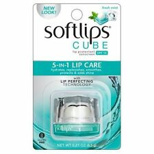 Softlips Cube Lip Balm Fresh Mint SPF 15 Protectant Chapped Lips Shea Butter