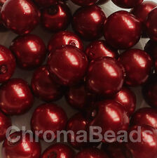 Glass Faux Pearl Beads - choice of 50+ colors, sizes 3mm 4mm 6mm 8mm 10mm 12mm