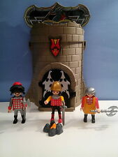 sympa donjon chateau transportable   playmobil ( chevalier viking ) 0037