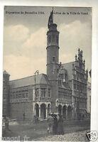Postal- Bélgica - Exposición de Bruselas 1910 - Pabellón la Ayuntamiento Guante