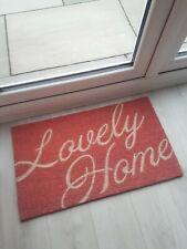 Coir pink lovely home door mat