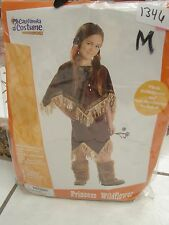 girls costume Princess Wildflower Native American Dress Boots, Barrettes M 8-10