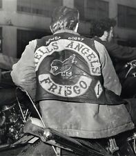 Hells Angels Motorcycle Gang In Frisco 1960's 8.5x11 Photo