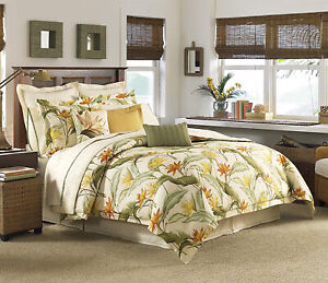 Tommy Bahama Birds of Paradise 4-Pc Tropical Comforter Set Queen