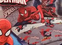 Marvel Ultimate Spiderman Kids Room Full Size Sheet Set BRAND NEW 4 Piece Set