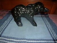 Cute Vintage Black Sheep Ceramic Planter, Unmarked - Free Shipping
