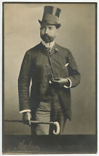 DANDY / DAPPER MAN FROM NY?, TOP HAT, GLOVES, CANE + PIN STRIPED PANTS, PORTRAIT