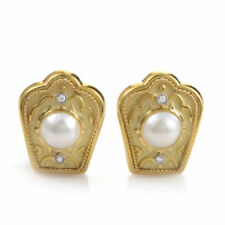 Clip - On Natural Yellow Gold Fine Earrings
