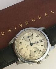 STUNNING UNIVERSAL GENEVE CHRONOGRAPH UNI COMPAX MANUAL WIND MEN'S WATCH