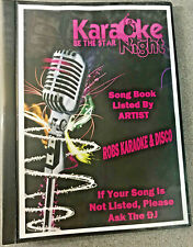 Karaoke Song Book - CUSTOM COVER SHEETS - Fully Printed - FREE NEXT DAY DELIVERY