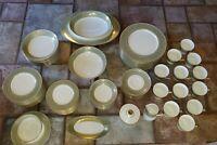 MIKASA BONE CHINA DINNER SET FOR 12 ROSEMONT 117 92 PIECES EXCELLENT VTG