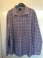 James Pringle Men's Check Sleeved Shirt Size XL