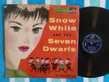 SNOW WHITE & THE SEVEN DWARFS 78 rpm w/ PICTURE SLEEVE RCA Victor 1952