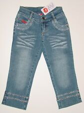 NWT Lipstik Girls Cropped Jeans with Crystals, sz 7