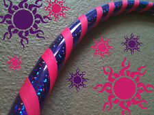 Glitter Princess DANCE & EXERCISE Hula Hoop COLLAPSIBLE push button Purple Pink
